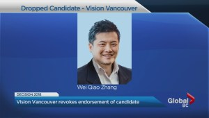 Vision Vancouver drops candidate on eve of Vancouver election